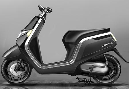 新型50ccスクーター「Dunk」