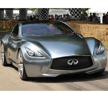 2009年発表のコンセプトカー「インフィニティ エッセンス」(ハイブリッド・スポーツカー)