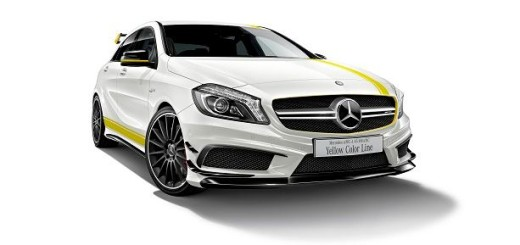 Mercedes-AMG A 45 4MATIC Yellow Color Line